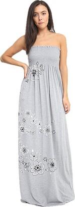 Mixlot New Womens Sexy Strapless Maxi Dress Ladies Sheering Boobtube Bandeau Long Summer Spring (Jade Green M/L 12-14)