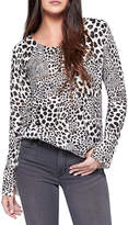 Sanctuary Leopard Crew Sweater