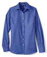 Lands' End Women's Petite Long Sleeve No Iron Broadcloth Shirt-White
