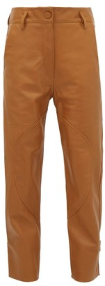 Petar Petrov Hunter High-rise Leather Trousers - Womens - Brown
