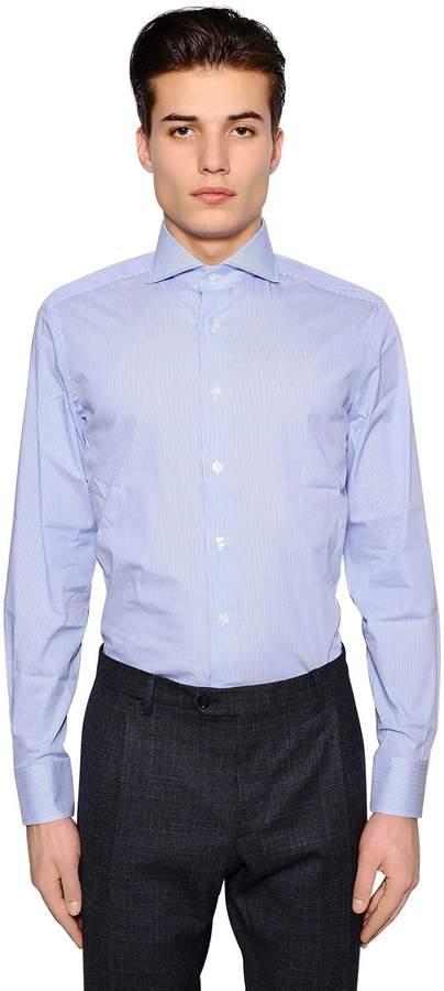 Lardini Striped Stretch Cotton Shirt