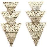 Charlotte Russe Etched & Hammered Dangling Triangle Earrings