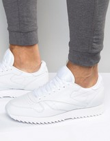 Reebok Classic Leather Ripple Trainers In White Ar2348
