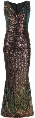 Talbot Runhof Sequin Dress