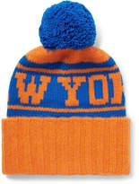 The Elder Statesman NBA New York Knicks Intarsia Bobble Hat