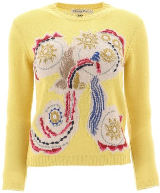 Christian Dior Embroidered Crewneck Sweater