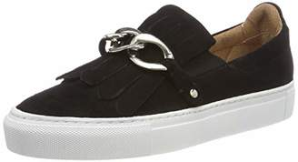 Pavement Women's Gry Slip On Trainers, Black (Black Suede 017 017)