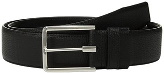 Tumi Textured Leather Reversible Belt (Brass/Black) Men's Belts