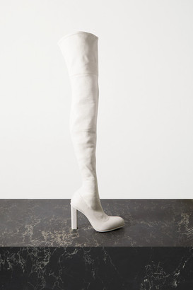 Alexander McQueen Leather Over-the-knee Boots - White