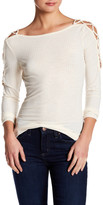 Jessica Simpson Ribbed Lace-Up Long Sleeve Shirt