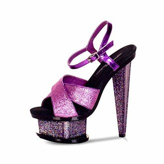 """The Highest Heel Spectrum Series 31 6"""" Prism Heel Combo Platform Sandal"""