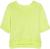 Milly Evey neon chunky-knit cotton-blend sweater