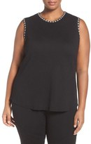 Nic+Zoe 'Double Stitch' Sleeveless Top (Plus Size)