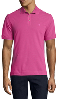 Z Zegna Cotton Contrast Trimmed Pique Polo