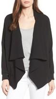 Bobeau Women's Drape Front Jacket