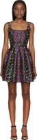 Christopher Kane Grey Leopard Jacquard Princess Dress