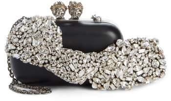 Alexander McQueen Queen & King Crystal Bow Clutch
