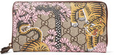 Gucci Leather-trimmed Printed Coated-canvas Wallet - Beige