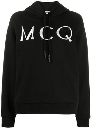 McQ Swallow Logo Drawstring Hoodie