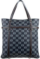 Loewe Leather-Trimmed Printed Tote