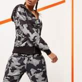 River Island Womens RI Active grey camo print gym hoodie