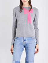Chinti and Parker Bow-print cashmere jumper