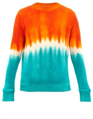 The Elder Statesman Tie-dyed Cashmere Sweater - Orange Multi
