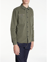 Edwin Labour Four Pockets Shirt, Military Green