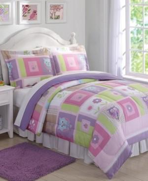 My World Happy Owls Reversible 3-Pc. Full/Queen Comforter Set Bedding