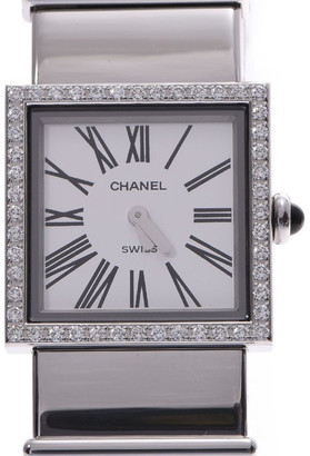 Chanel White Diamond and Stainless Steel Mademoiselle Women's Wristwatch 22MM