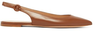 Gianvito Rossi Anna Slingback Leather Flats - Womens - Tan