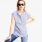 J.Crew Short-sleeve popover in shirting stripe