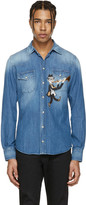 Dolce & Gabbana Blue Denim Musician Shirt
