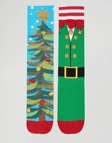Asos Holidays Socks With Bells 2 Pack