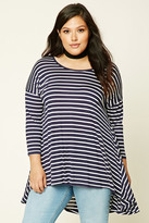 Forever 21 FOREVER 21+ Plus Size Stripe Trapeze Top