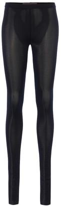 Rick Owens Lilies metallic leggings