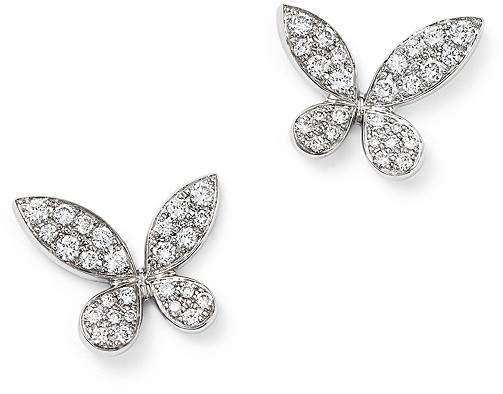 Bloomingdale's Diamond Pavé Butterfly Stud Earrings in 14K White Gold, .50 ct. t.w.