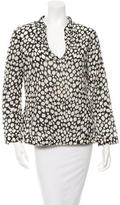 Tory Burch Printed Sequined Blouse