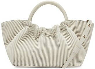 DeMellier Mini Los Angeles Pleated Leather Tote