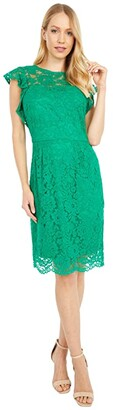 Lauren Ralph Lauren Opheliara Sleeveless Day Dress (Scarab Green) Women's Dress
