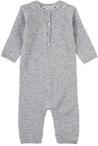 Bonpoint Long-Sleeve Coverall-GREY