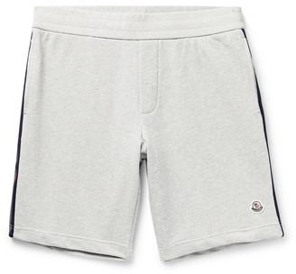 Moncler Logo-Appliqued Webbing-Trimmed Loopback Cotton-Jersey Shorts