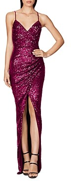 Nookie Cosmo Sequin Wrap Gown