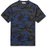 Sandro - Camouflage-print Cotton-blend Jersey T-shirt