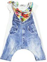 Junior Gaultier Overalls Printed Cotton Jersey Romper