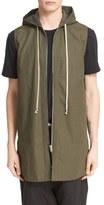 Rick Owens Hooded Sleeveless Canvas Jacket