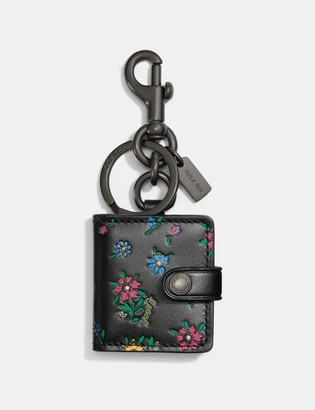 Coach Picture Frame Bag Charm With Wildflower Print