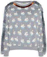 Stella McCartney fringe swan print sweatshirt