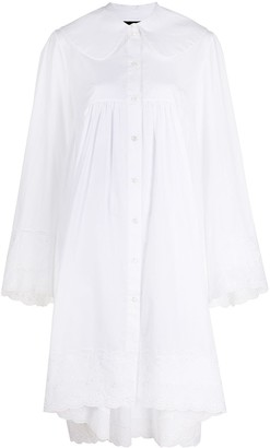 Simone Rocha Lace Trim Shirt Dress