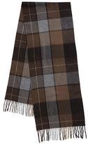 Black Brown 1826 Plaid Cashmere Scarf